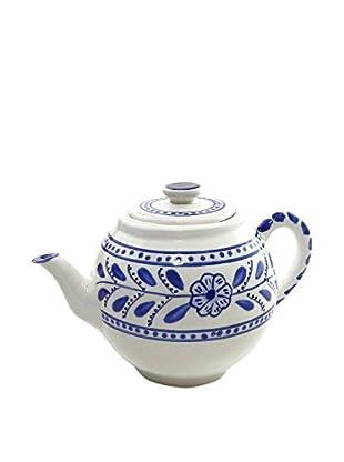 Le Souk Ceramique Azoura Teapot, Blue/White