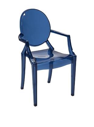 Adamaris Transparent Blue Arm Chair