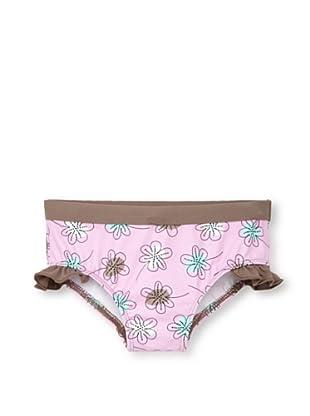 Les UltraViolettes Girl's Scoubidou Shorty Swim Shorts (Imprime Rose)