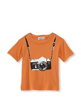 LA Lounge Boy's Photographer Crewneck Tee (Orange)