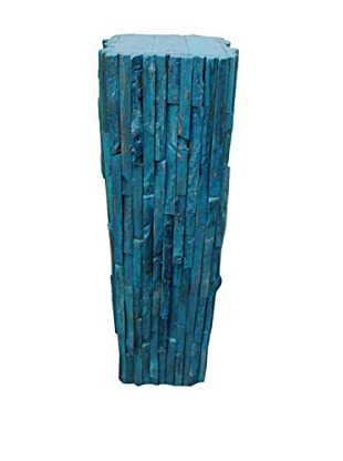 Asian Art Imports Rustic Stand (Cyan)