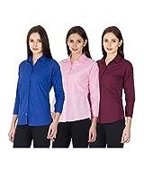 Women/Girls 3 Cotton Shirts Combo,