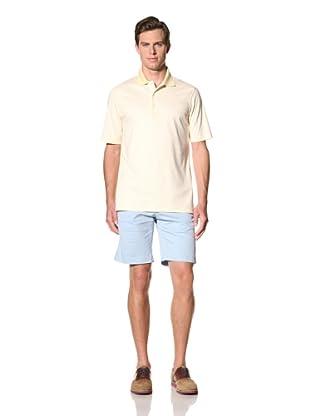 Bobby Jones Men's Stripe Liquid Cotton Polo (Yellow)