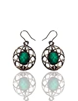 Optionsz Priyanka Inspire Green Color Beaded Small Elegnat Drop Earring , OPTERJPAZ241