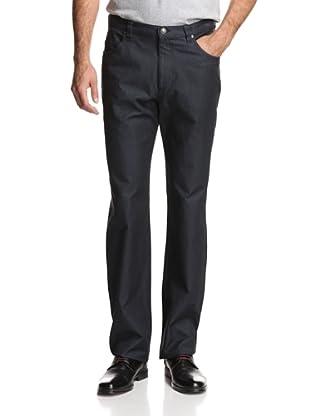 Oxxford Men's Solid Denim Pant (Dark Navy)
