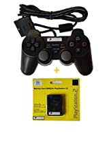 Digital Gaming World PlayStation 2 Wired Controller With 8MB Memroy Card (Combo Deal)