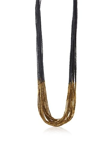 La Croix Rousse Multi-Strand Necklace, Gold/Blue