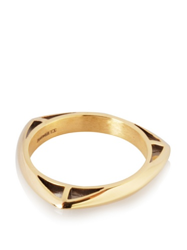 Katie Rowland Lilith Tri Stacker Ring (Gold/Black)
