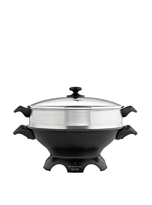 Wolfgang Puck 6-Qt. Electric Gourmet Wok with Tempered Glass Lid and Steaming Tray
