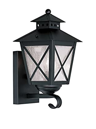 Crestwood Madelynn 1-Light Wall Lantern, Black