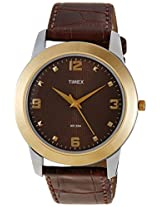 Timex Classics Analog Brown Dial Men's Watch - TW000W803
