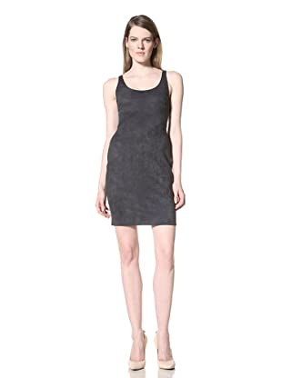 HALSTON HERITAGE Women's Short Sleeve Fitted Tank Dress (Petrol)