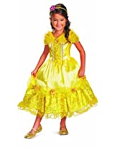 Disguise Disney's Beauty and The Beast Belle Sparkle Deluxe Girls Costume, 7-8