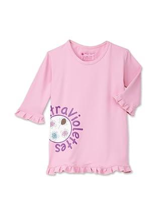 Les UltraViolettes Girl's Confetti Swim Tee (Rose)