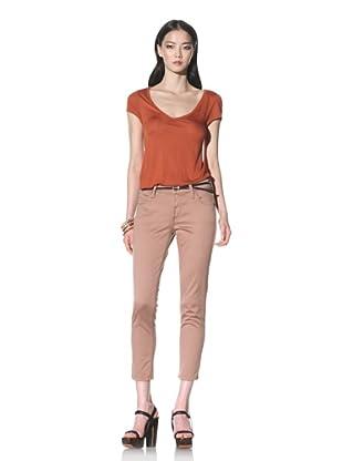 James Jeans Women's Twiggy Skinny Crop (Mauve)