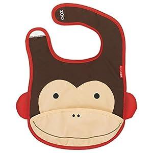 Skip Hop Zoo Bib-Monkey (Brown/Cream)