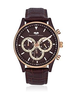 Rhodenwald & Söhne Reloj con movimiento cuarzo japonés 10010133 Marrón Oscuro 43  mm