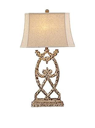 Bassett Mirror Co. Consuela 1-Light Table Lamp, Distressed Parchment