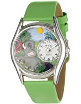 Whimsical Watches Women's S0150013 Elephant Green Leather Watch