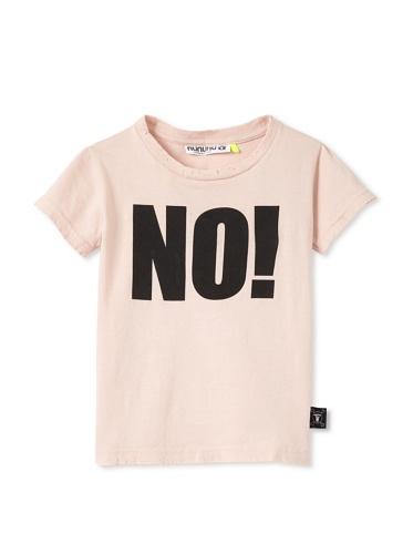NUNUNU Kid's NO! Tee (Pink)