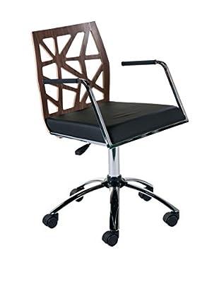 Euro Style Sophia Office Chair, Walnut
