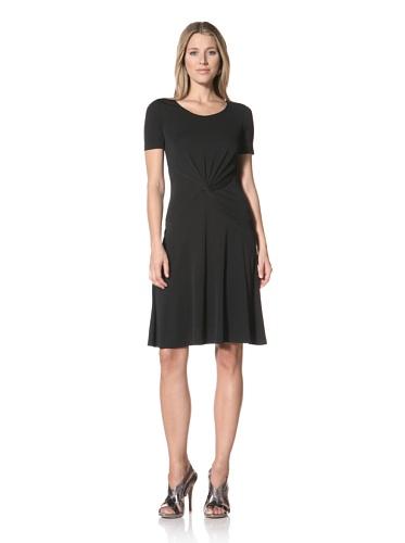 Halston Heritage Women's Twist Front Dress (Black)