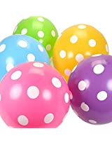 Tiger 50175 Polka Dot Balloon Color Mix Multicolor (Pack of 10)