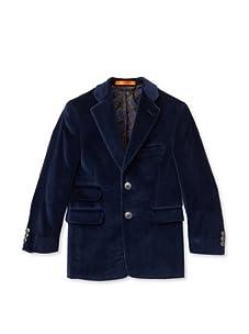 Tallia Orange Boy's Velvet Sportcoat (Medium blue)