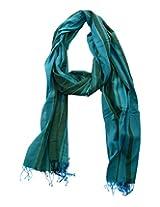 Dushaalaa Women's Scarves (scf039.b_Blue, Blue, L x B : 94 Inches X 39 Inches)