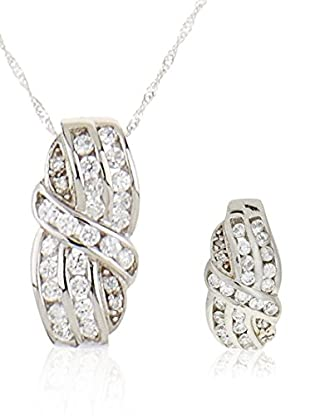 Córdoba Jewels Set Collier und Ohrringe Sterling-Silber 925