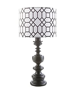 Surya Wilson Outdoor Table Lamp, Black