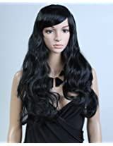 """Cool2day New Arrival Modern Womens 25"""" Long Curly Black Friendly Hair Party Wig Jf1223 3"""