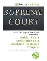 Article 18 De La Constitution De La Cinquime Rpublique Frana
