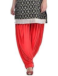 Sohniye Women's Viscose Patiala [GAKP06_Red_Free Size]