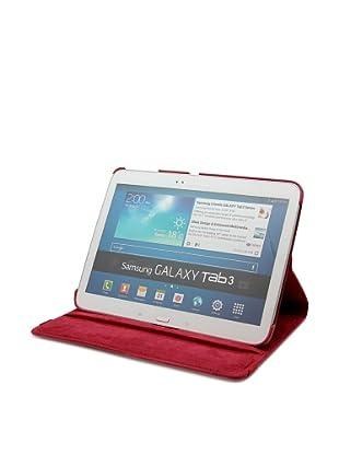 Unotec Funda Polipiel Rotación Galaxy Tab3 10 Pulgadas Rojo