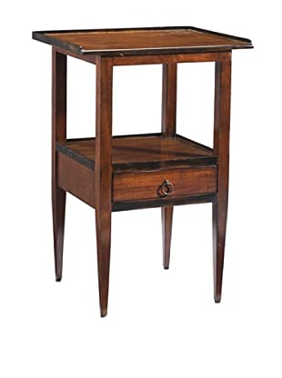 French Heritage Accent Table with Drawer, Antique Cherry