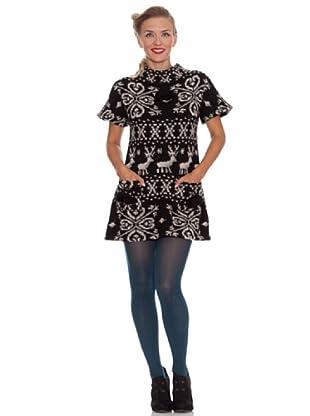 Divina Providencia Vestido Mini Ciervos (Negro)