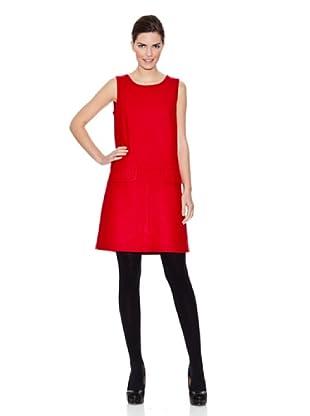 Naf Naf Vestido Irene (Rojo Cereza)