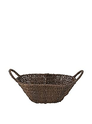 Woodard & Charles Abaca Oval Basket with Handles