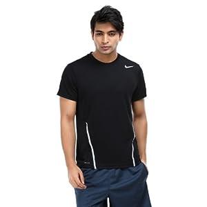 Nike Men Black Power UV Tennis T-Shirt