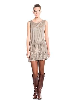 Cortefiel Vestido Troquelado (Visón)