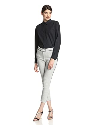 Thakoon Addition Women's Textured Knit Pant (Black/ivory)