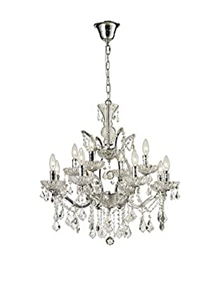 CDI Furniture Small Crystal Chandelier, Chrome