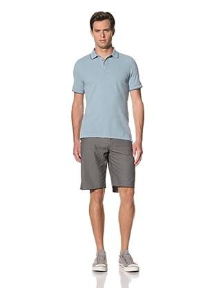 John Varvatos Star USA Men's Short Sleeve Pique Polo (Empire Blue)