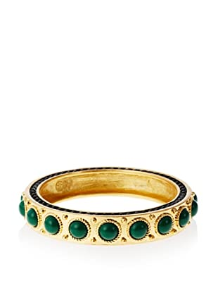 House of Harlow 1960 Green Cabochon Bangle