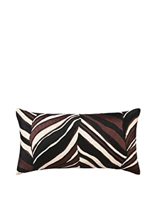 Trina Turk Tiger Leaf Embroidery Linen Pillow (Brown)