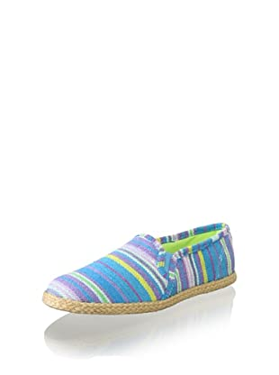 Keds Women's Jute Stripe Slip-On (Multi Blue)