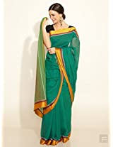 Cotton Woven Broad Border Sari