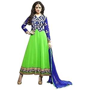 Bhuwal Fashion Green Faux Georgette Long Anarkali Salwar Suit
