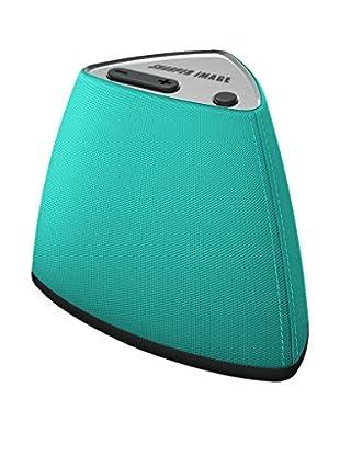 Sharper Image Vela Wireless Bluetooth Mini Speaker with Built-In MIC (Blue)